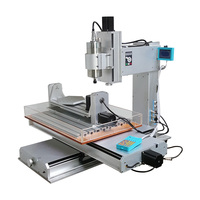 Vertical type high performance 6040 CNC router Engraver column 2200w 5 axis with water tank for wood metal carving
