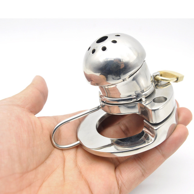 new short type penis cage stainless steel male chastity device cb6000s heavy cock ring Prevent erection sex products for man