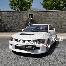 Diecast modelo de carro para super um lancer evolution ix gsr 1:18 (branco) + presente!!