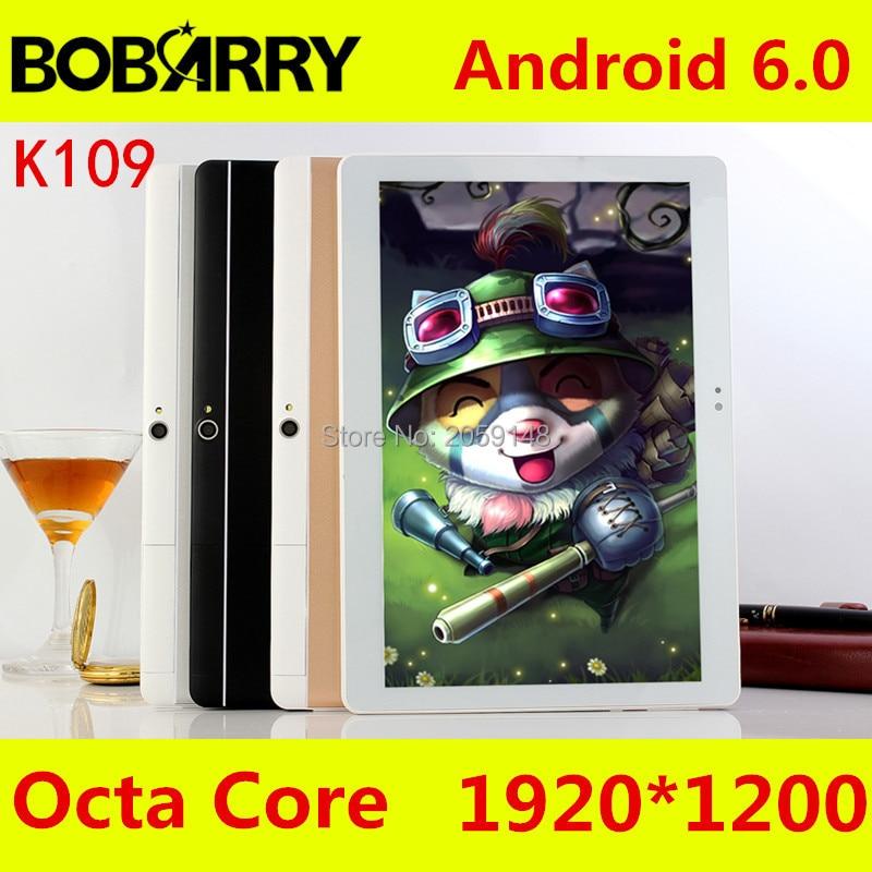 BOBARRY K109 4 Г LTE Android 6.0 10 дюймов tablet pc Окта основные 4 ГБ RAM 64 ГБ ROM 8 Ядер 5MP IPS Дети Лучший Подарок Таблетки компьютер