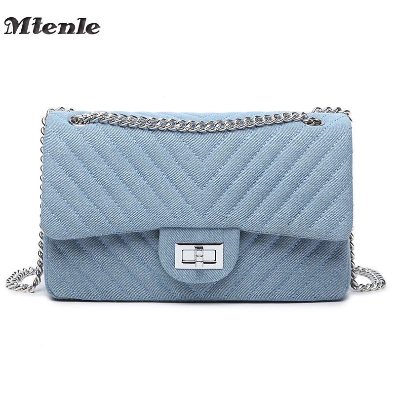 MTENLE Women Bags Brand Luxury Handbag Designer Crossbody Bag Denim V Striped Ladies Shoulder Messenger Bags Chain Sac A Main F fashion chain casual shoulder bag messenger bag luxury handbag famous brand women designer crossbody bags lady clucth sac a main