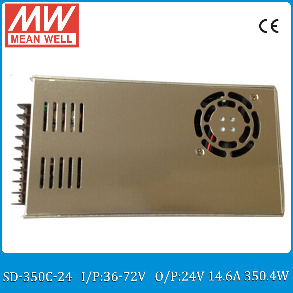 Original MEAN WELL SD-350C-24 Single Output 350W 14.6A 24VDC Input 36~72VDC meanwell dc/dc converter 24V цена