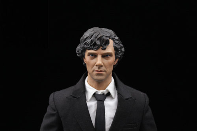 1/6 Benedict Cumberbatch Sherlock Head Carved Male Head for 12 Inches figures die shi spot burning the soul of a model burns 1 6 head carved figures are base contains mask