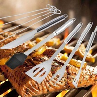 1set Stainless Steel Barbecue Grilling Tools Set BBQ Accessories Grill bbq Utensil Camping Grill Tools Kitchen Tools