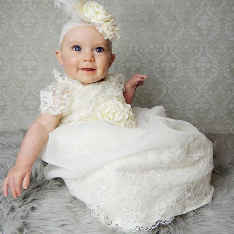 Long Flower Girls Dresses For Wedding Gowns Lace  Baby Girl Clothes Suitable first communion dresses for girls white flower girls dresses for wedding gowns a line baby girl clothes suitable first communion dresses for girls