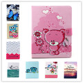 For Apple ipad 2 3 4 Magnetic Auto Wake Up Sleep Flip cartoon owl bear elephant Case For ipad 3/4 Cover with Smart Stand Holder