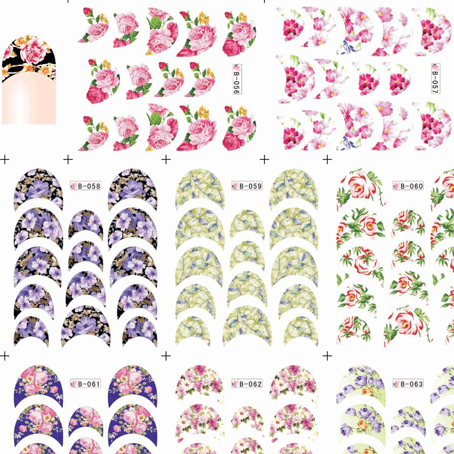 KADS 11Sheet/SET.WATER DECAL France Round Series NAIL WATER STICKER DECAL NAIL DRESSING for water transfer nail sticker
