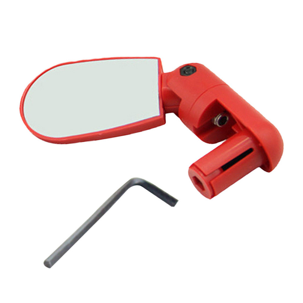 Gear Bicycle Rearview Mirror Helmet Handlebar Reflector Accessories Adjustable Attachment 360 Degree Bike Useful