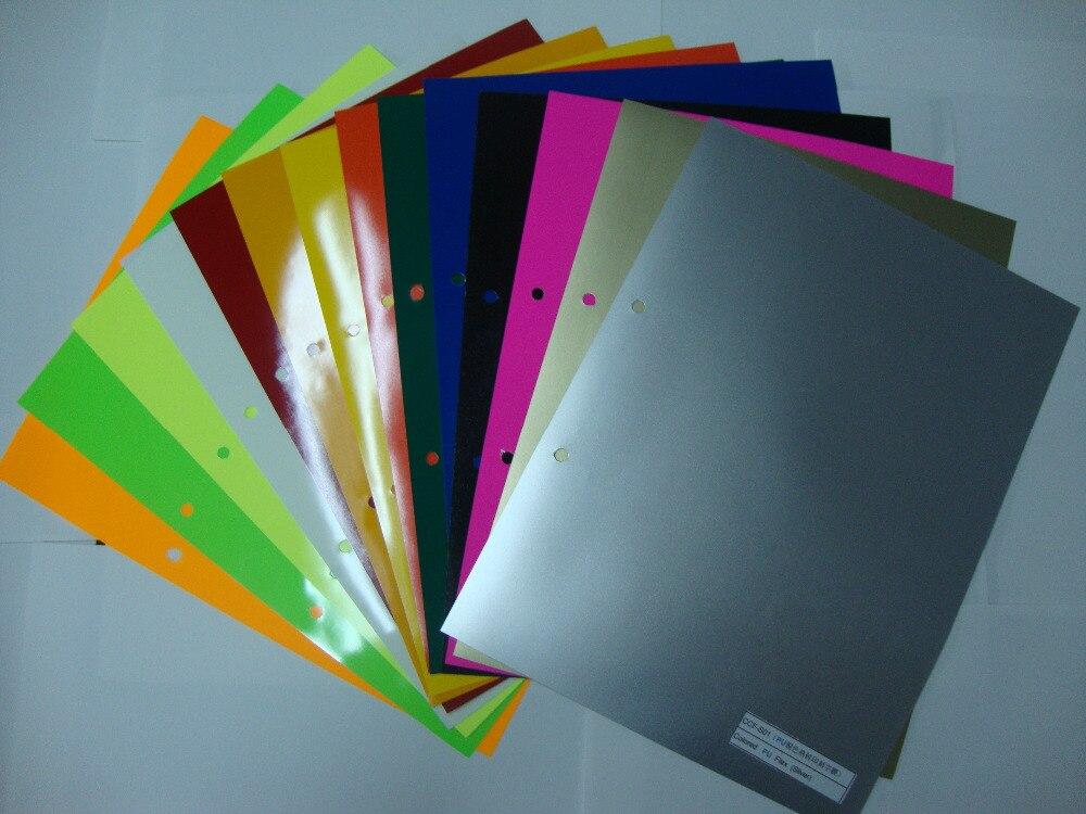 (16pcs/lot)4 Different Color PU Flex A4 Paper Iron On Vinyl Transfer Paper PU Heat Transfer Vinyl For T-shirts Transparent Film