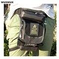 WUSWUX 2016 nova moda multifuncional à prova d' água saco da cintura dos homens casuais saco de nylon saco de viagem de moto perna pacote homens pacote de cintura