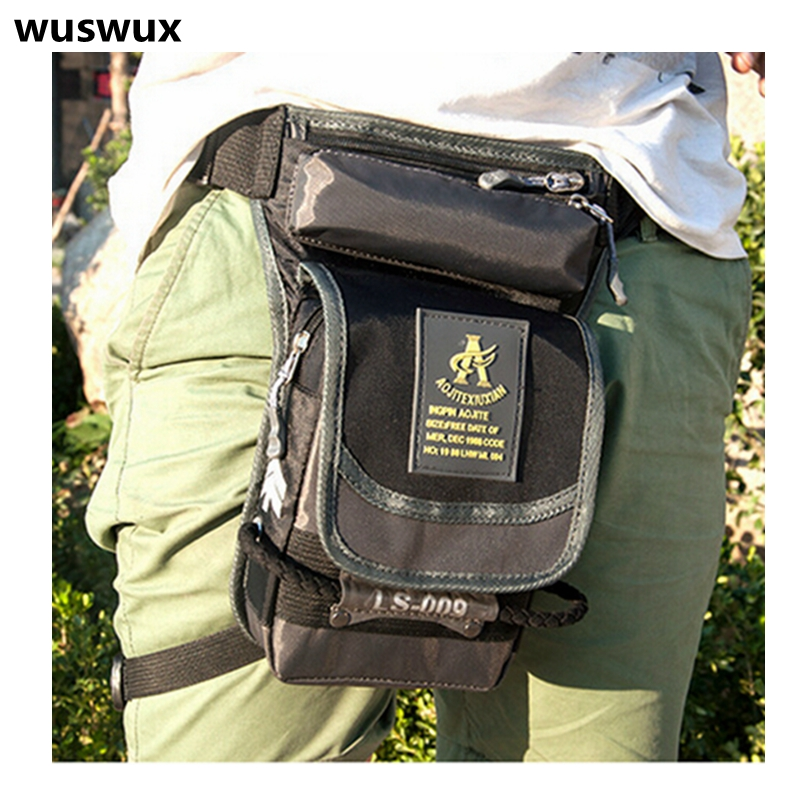 New Fashion Multifunction Waterproof Nylon Waist Bag Casual Men Bag Travel Bag Motorcycle Leg Package Waist Pack Men