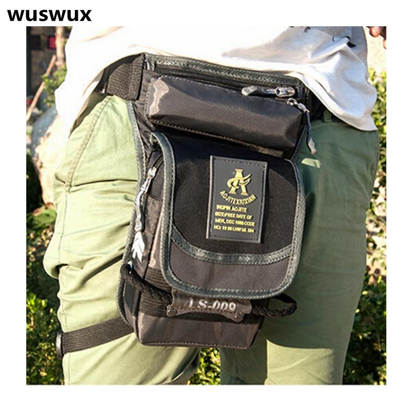 New Fashion Multifunction Waterproof Nylon Waist Bag Casual Men Bag Travel Bag Motorcycle Leg Package Waist Pack Men