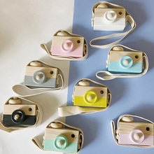 Toy Cameras Mini Cute Wooden Camera Baby Kids Hanging Photography Prop Decoration Children Educational Birthday Christmas Gifts