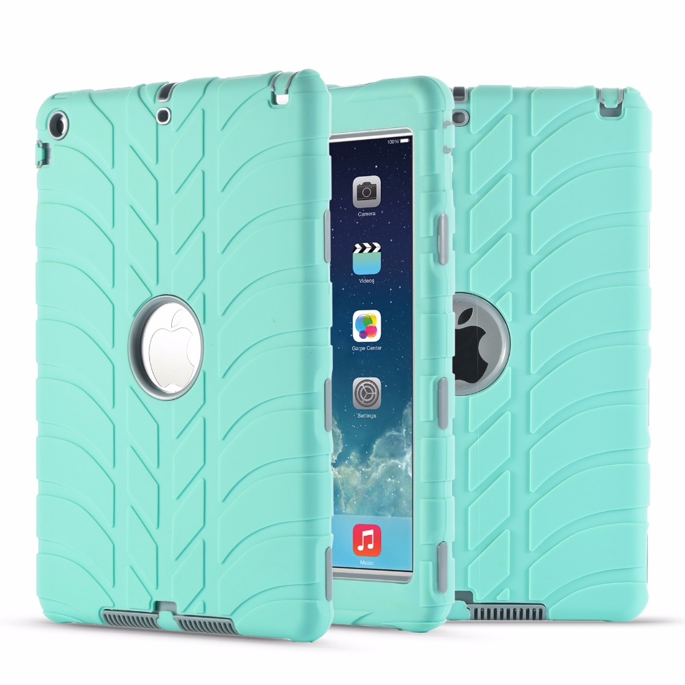 Armor Heavy Duty Tire Pattern Case For Apple New Ipad 9.7 2017 A1822 A1823 A1893 5Th 6Th Generation Cover Coque Funda