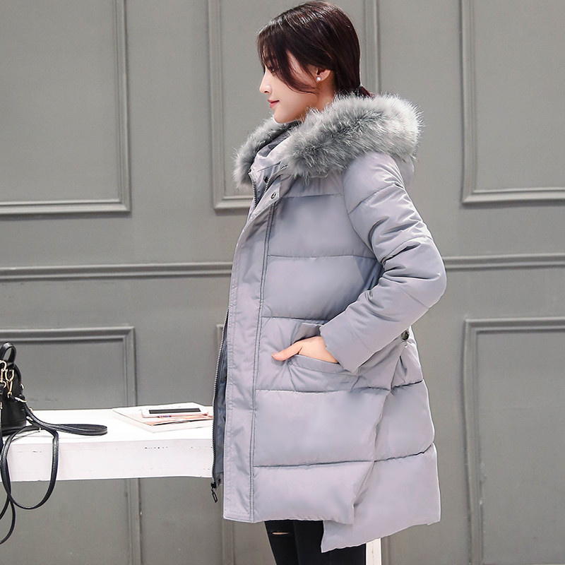New Winter Women Jacket Long Thicken Plus Size Outwear Hooded Wadded cotton Coat Female Slim Parka Cotton-Padded Jacket Overcoat winter cotton outerwear women super fur hooded wadded jacket female medium long padded coat thicken slim parka plus size
