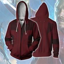 Men and Women Zip Up Hoodies The Avengers Hero Hooded Jacket Mravel Superheroes Sweatshirt Star Lord Streetwear Cosplay Costume