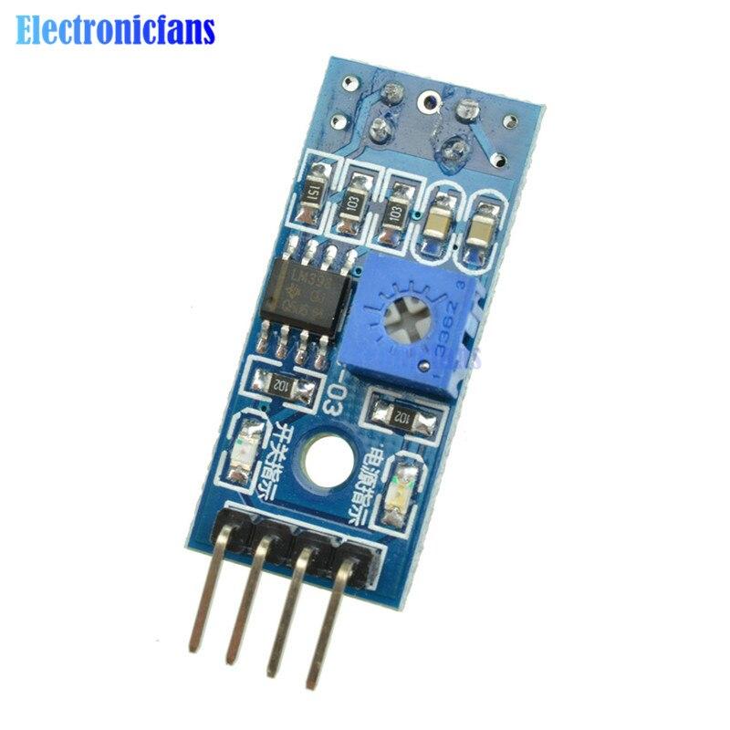 2 pces tcrt5000 infravermelho reflexivo ir interruptor fotoelétrico barreira linha módulo sensor de trilha para arduino carro inteligente 3.3 v-5 v