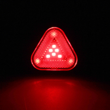 Waterproof Cycling Light Triangle Shape USB Rechargeable Rear Lamp Bicycle Tail Lights Smart Safety Warning Bike Light e smart plug in bicycle laser tail lights safety warning lights