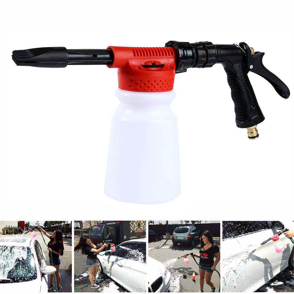 Back To Search Resultshome Honest Car Washer High Pressure Snow Foamer Water Gun 900ml Car Cleaning Foam Gun Washing Foamaster Gun Water Soap Shampoo Sprayer Drip-Dry