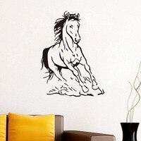 Freies Verschiffen PVC Jumping Horse Aufkleber Wohnzimmer Kreative Innen Selbstklebend Wohnkultur Vinyl Kunst Wandtattoo