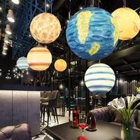 Современный подвесной светильник Смола космическая луна подвесные лампы Атмосфера гостиная столовая барные лампы кофе магазин подвесной