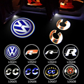 LED Car Door Courtesy Light Welcome 3D Laser Ggost Logo Projector For VW Passat B6 B7 CC Golf 6 7 Jetta MK5 MK6 Tiguan Scirocco