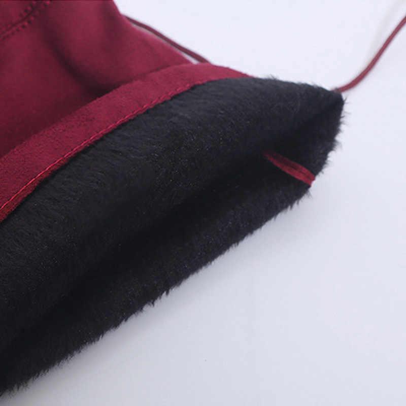 Sexy botas sobre la rodilla de las mujeres botas de mujer de invierno zapatos de mujer de gamuza Bota larga de las mujeres botas de moda de alta del muslo botas de talla grande 43