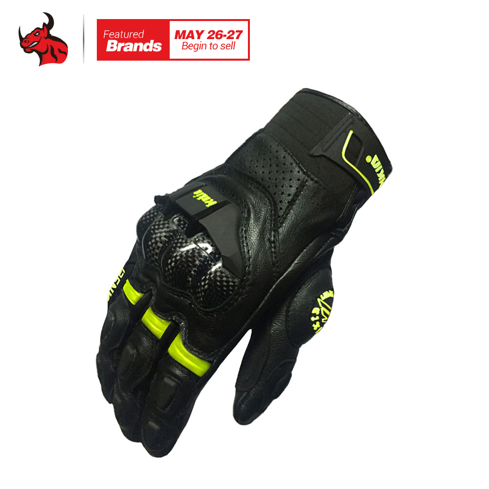 BENKIA Men Motocross Racing Leather Gloves Black Full Finger Motorcycle Gloves Touch Screen Moto Racing Motorbike Guantes Luvas mad 01s professional full finger racing gloves red black size l