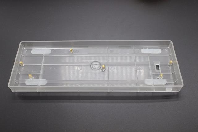 Transparente Leite Brilho Branco Através Translúcido Caixa de plástico PCB GH60 Costar Placa Mão De Arame para 60% Mini Teclado de Jogo Mecânico