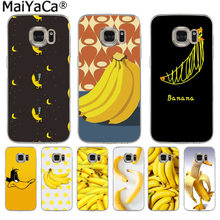 MaiYaCa Food fruit yellow banana Cute Phone Accessories Case for Samsung S9 S9 plus S5 S6 S6edge S6plus S7 S7edge S8 S8plus(China)