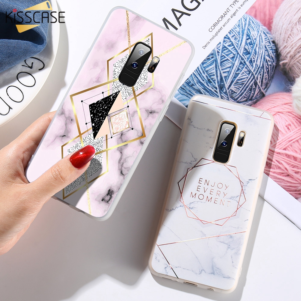 KISSCASE 3D Matte <font><b>Case</b></font> For <font><b>Samsung</b></font> Galaxy Note 9 8 S9 S8 Plus <font><b>S7</b></font> Soft TPU Marble Phone <font><b>Cases</b></font> For Sumsung A5 A3 J5 J3 2017 Coque image