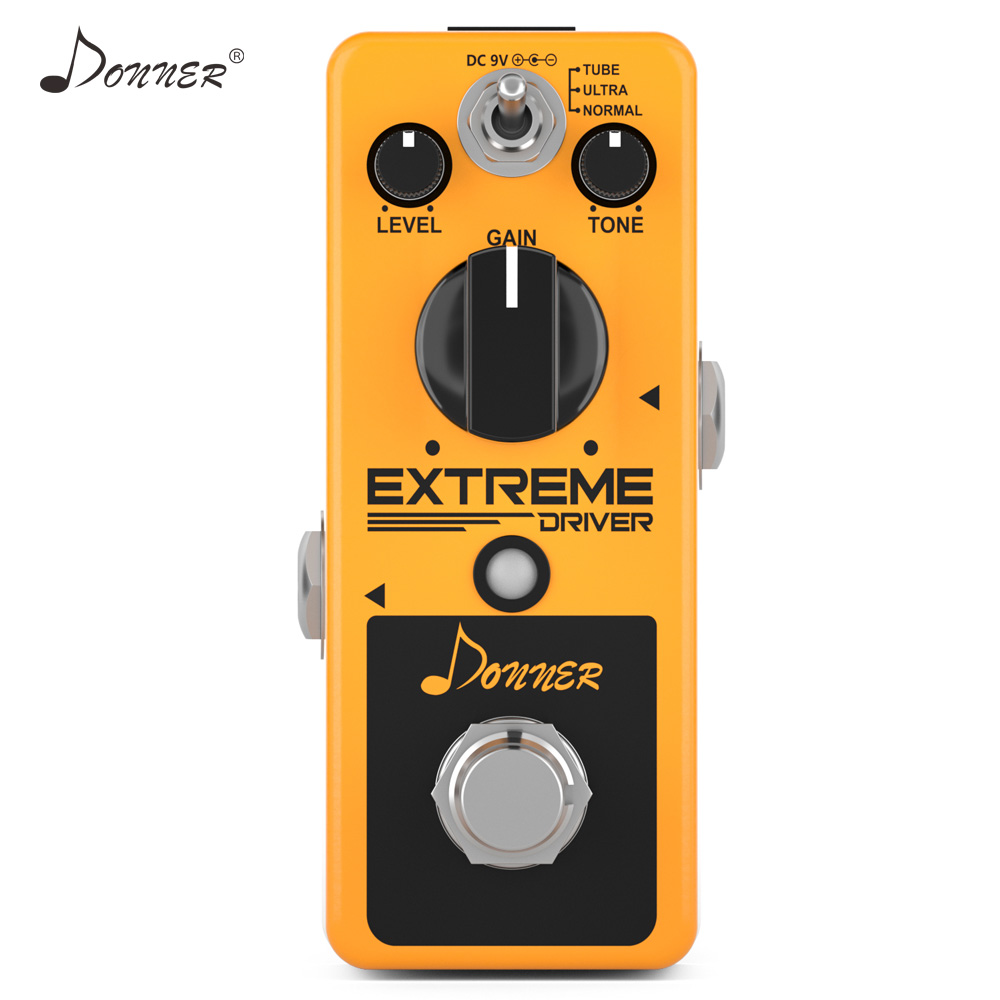 Donner New Extreme Driver ANALOG Distortion Guitar Effect Pedal Rich Distorted Sound Iconic Classic Rock Distortion