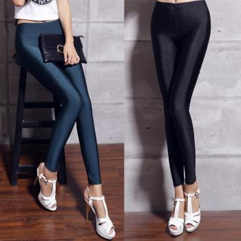 spandex leggings plus size black white women leggings colors shiny lycra neon spandex leggings high waist stretch skinny shiny plus size women in overalls