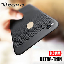 VOERO Luxury Hard PC Case For Xiaomi Redmi 4X 4A 4 Pro Breathable Cooling For Xiaomi Redmi 5A Cases Note 5A 32Gb 64Gb Case Shell