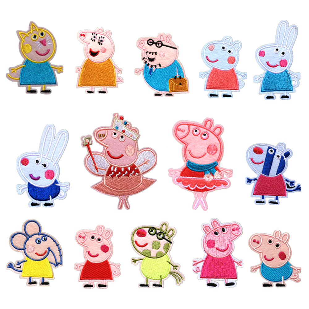 Fine Cartoon Embroidery Cloth Patch Pig Patch Cloth Pig Mother Pig Daddy Embroidery Patch Child Patch D-012