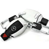 Leather Key Shell Holder Remote Car Key Case Cover For Mercedes benz W203 W210 W211 C E S CLS CLK CLA SLK Accessories