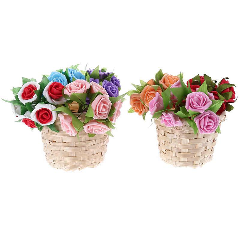 Grama do mar Jardim Vaso de Flores Artesanais de Palha Cesta De Armazenamento De Artigos Diversos Organizador Caixa de Cesta De Vime de Vime Planta Potes Berçário