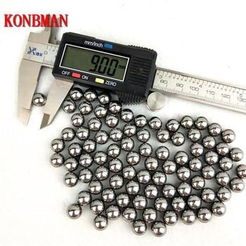¡Oferta! 100 Uds. El proyectil bolas de acero de 9mm 10mm 11mm arco tirachinas profesional munición tirachinas al aire libre balas utilizadas para arco de caza
