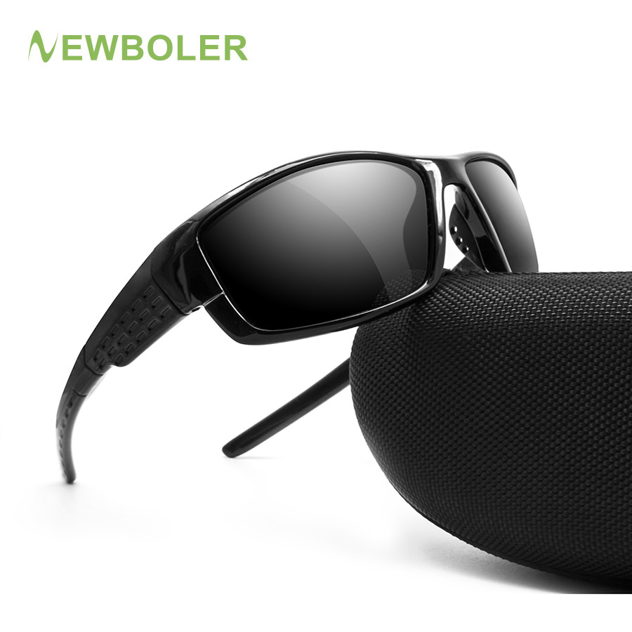 NEWBOLER Sunglasses Men Polarized Sport Fishing Sun Glasses For Men Gafas De Sol Hombre Driving Cycling Glasses Oculos Masculino feidu мода steampunk goggles sunglasses women men brand designer ретро side visor sun round glasses women gafas oculos de sol