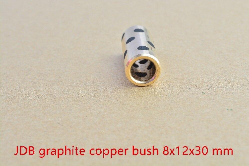 8mm Bearing 8mmx12mmx30mm Linear Graphite Copper Set Bearing Copper Bushing Oil Self-lubricating Bearing JDB 8x12x30 1pcs