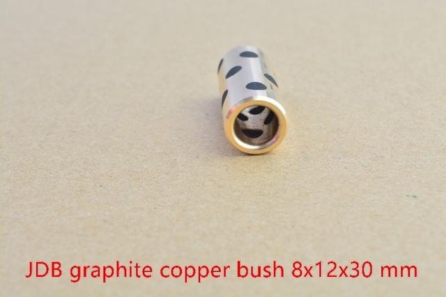 8mm roulement 8mm x 12mm x 30mm linéaire graphite ensemble de cuivre portant cuivre douille huile auto-lubrification JDB portant 8x12x30 1 pcs