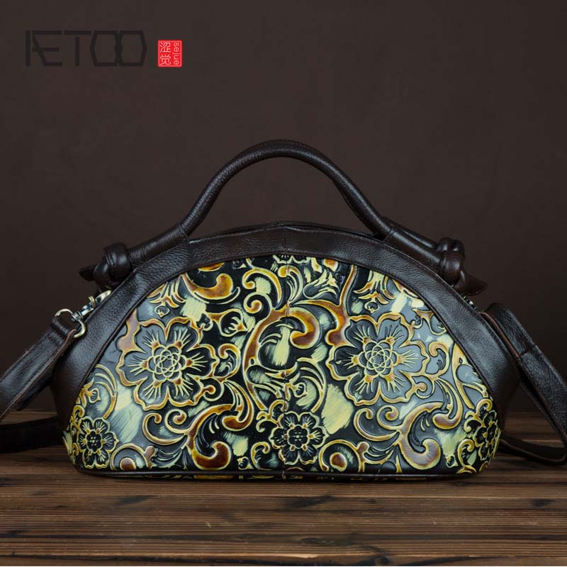 AETOO New style leather handbag retro fashion shoulder Messenger bag ladies handbag hand-colored handbag women bags подвесная люстра newport 33008 c