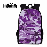 Dispalang New 3D Print Backpacks For School Students Popular Camo Pattern Elementary Student Book Bag Kids