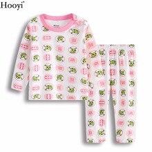 Розовый червь Пижама для младенцев Костюмы пижамы для девочек Футболка штаны из хлопка для новорожденных сна Наборы для ухода за кожей Одежда для детей с длинными рукавами дома Халаты