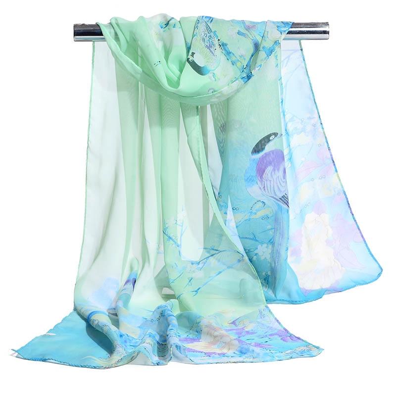 Klar Inventar Mode Muslimischen Hijab Frauen Bandana Blume Chiffon-silk Schal Weibliche Foulard Sommer Weiche Lange Schal & Wrap 50*160 Dauerhafte Modellierung Damenschals
