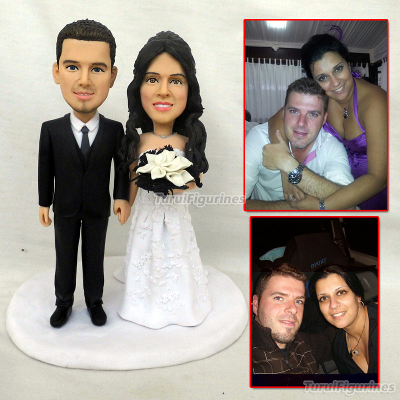Personalised clay Wedding cake topper gay wedding clay figurine cake decoration decor gift idea custom face clothes dolls statue