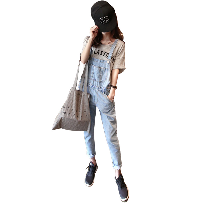 Women Casual Vintage Wash Straight Leg Loose fat  Girls Trousers Pants Denim Overall Suspender Jeans women casual vintage wash straight leg loose fat girls trousers pants denim overall suspender jeans