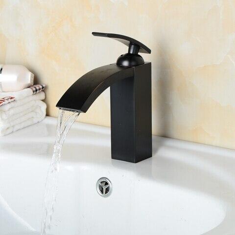 Noir cascade robinet salle de bains antiquer blaxk bassin mélangeur cascade  noir bassin mitigeur cascade robinet antique robinet évier mélangeur 4622fe5c820