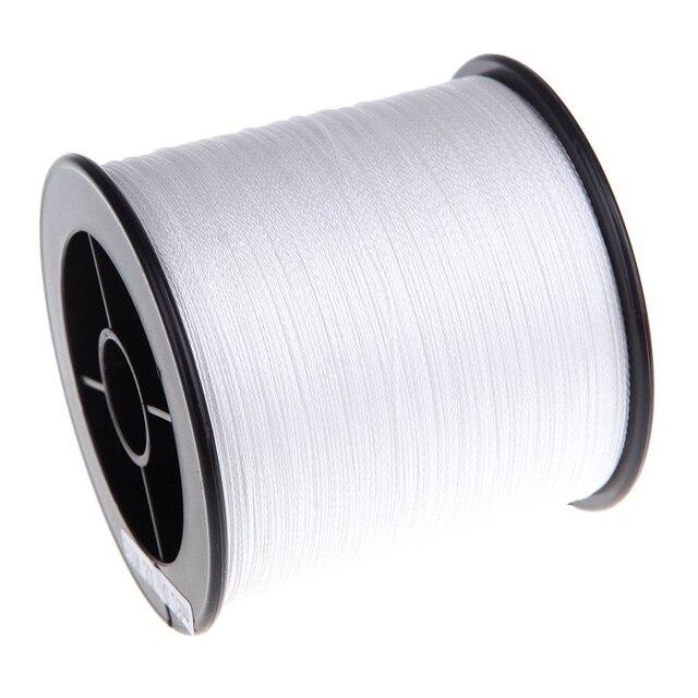 500 M 30 LB 0.26mm żyłka wytrzymałość PE pleciony 4 nici biały
