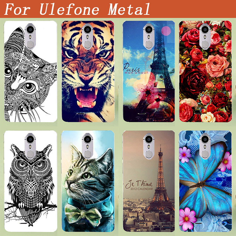 Für Ulefone Metallgehäuse Malerei Farbige Tiger Löwe Eule Rose - Handy-Zubehör und Ersatzteile